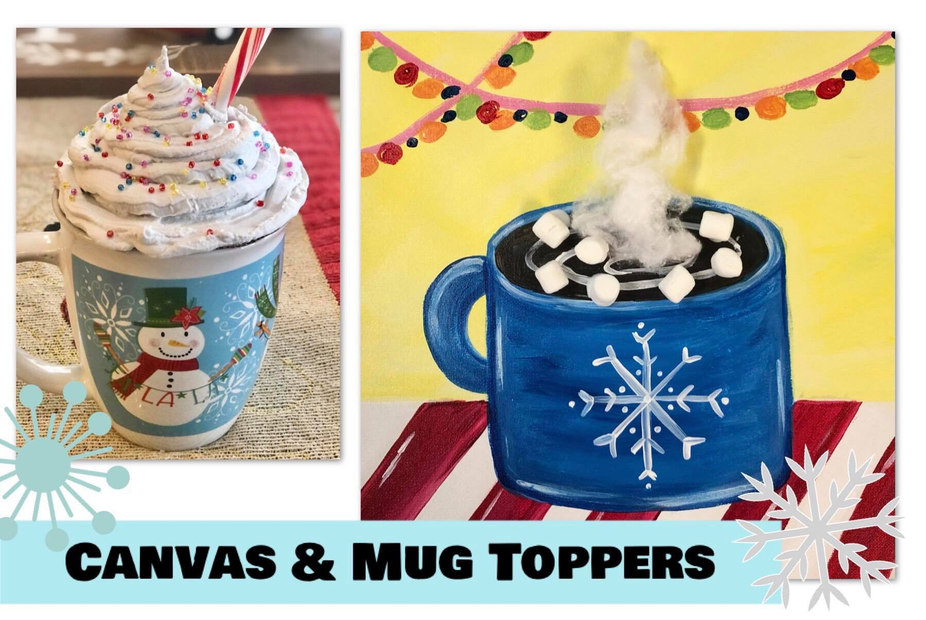 Canvas And Mug Toppers In Studio Kids Camp Generations Boutique Art Studio